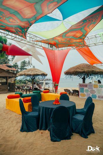 Photo of Beachside Mehndi decor idea.