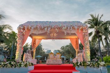 A beautiful floral mandap
