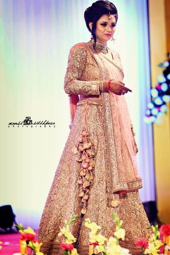 Light Pink All Over Sequin Work Lehenga