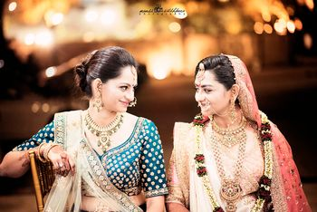 Bride with Sister on Wedding