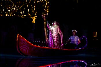 grand bridal entry on led boat