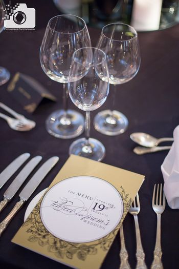 Personalised Menu Cards with Couple's Names