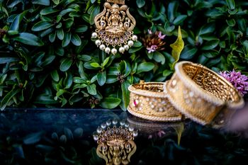 bridal temple jewellery photography pendant