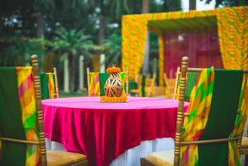 Mehendi table setting