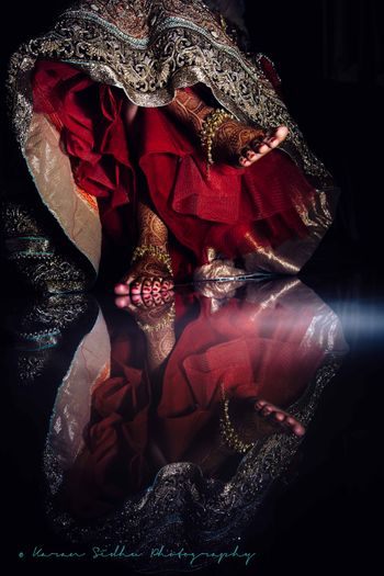 Bridal Feet with Lehenga and Payal