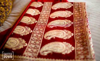 Deep Red Bridal Benarasi Saree