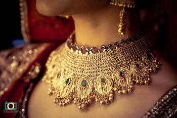 Unique Bridal Necklace with Peacock Design with Ghungru