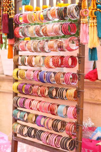 Bangles on Stand as Favour for Mehendi
