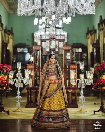 Photo of unique multicolour sabyasachi lehenga