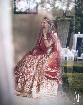 Photo of Pretty bridal portrait on wedding day