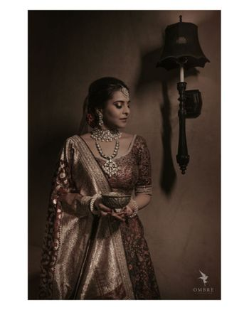 Photo of Bride in a traditional lehenga
