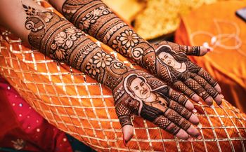 Full hand portrait mehendi design.