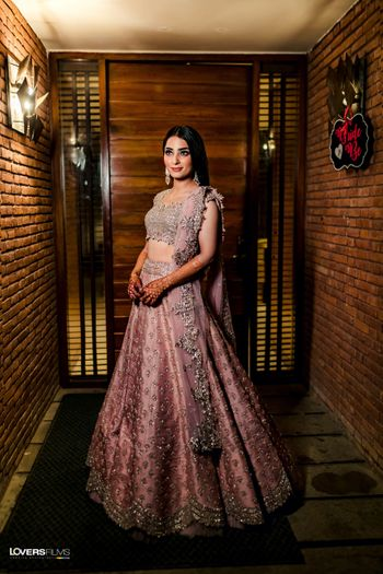 Photo of engagement or sangeet lehenga in dusty lilac