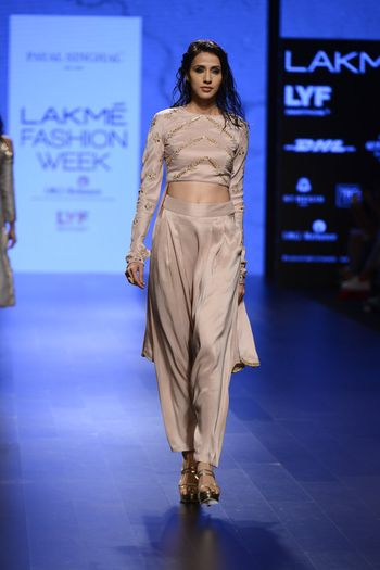 Photo of Dhoti Pants and Crop Top Outfit for Bride's Sister