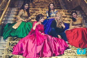 Bridesmaids in Multicolour Outfits with Anusha Dandekar