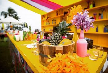 day wedding or mehendi bar decor idea with unique elements