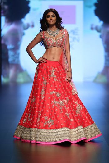 Lightweight bridal lehenga Anushree Reddy