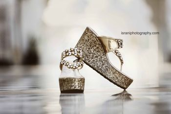 Sparkly Gold Wedges with Kundan