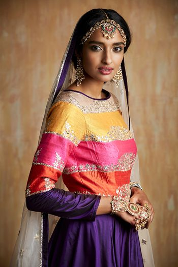 Photo of Purple and yellow anarkali