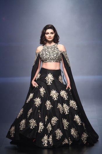 Prachi Desai in Black and Silver Lehenga