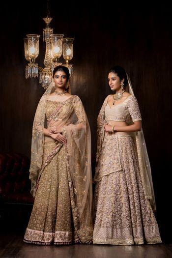 Pstel bridal lehenga by Shyamal Bhumika