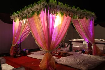 light pink drapes with light