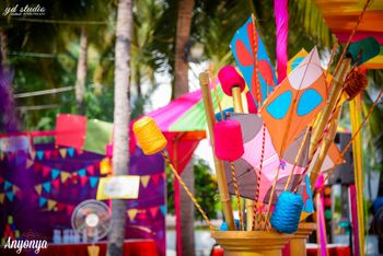 Photo of Kite Flying Activity Stall for Guests at Mehendi