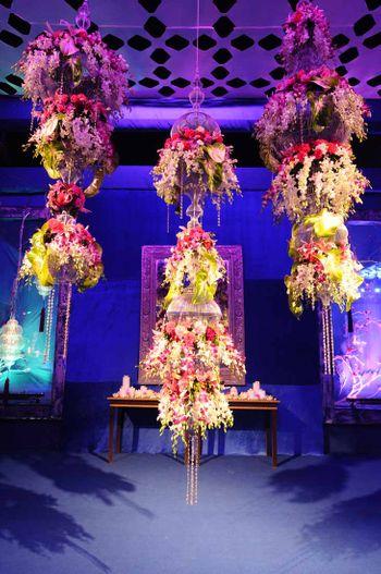 Suspended Floral Arrangement Decor