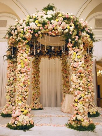 All Over Floral Mandap with Roses and Greens