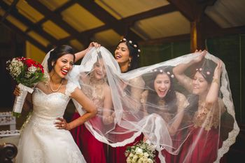 Fun Photo with Christian Bride and Bridesmaids