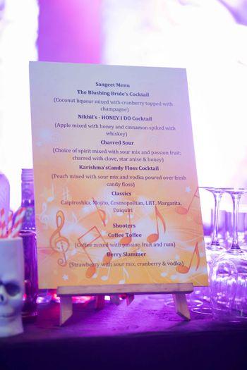 Personalised Sangeet Cocktail Menu