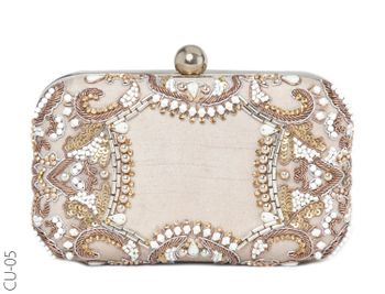 Photo of gold and silver glamorous bridal clutch for cocktail