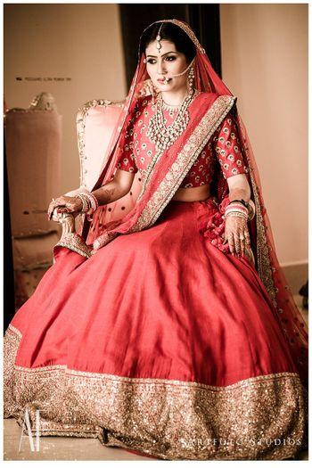 Classic red bridal lehenga