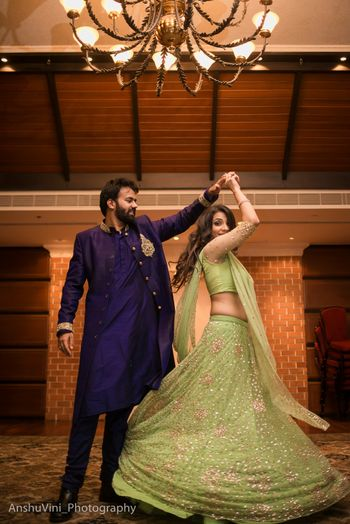 Light green lehenga