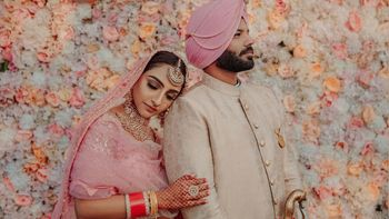 Sikh wedding couple shot