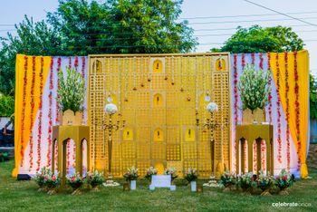 Contemporary mughal entrance decor