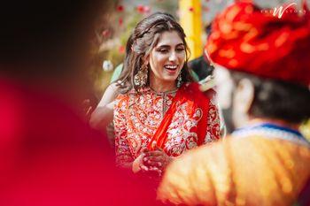 Bride to be on Mehndi