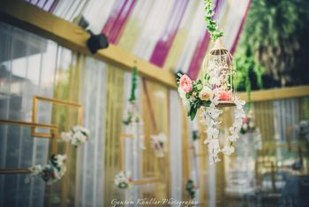 Birdcages for engagement decor