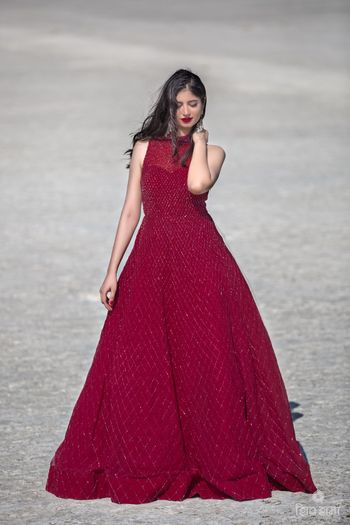 Photo of Marsala monotone evening gown