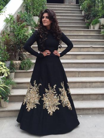 Black cocktail gown by sabyasachi