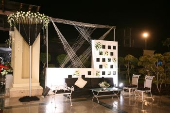 Photo of black and white theme for cocktail night