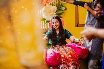 Photo of bride on her mehndi!