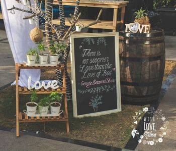 Photo of rustic wooden engagement