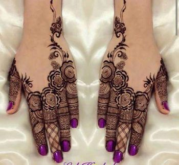 Modern mehendi design with blank spaces