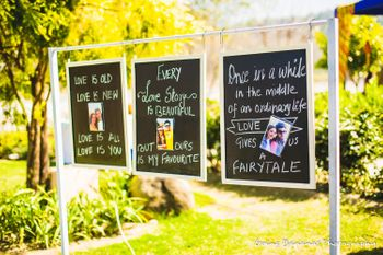 Photo of Personalised wedding decor