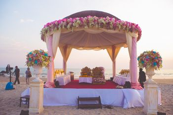 Lavender mandap decor