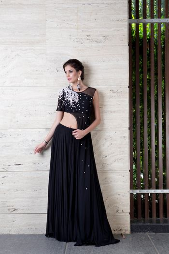 Photo of Indo-western blouse and skirt