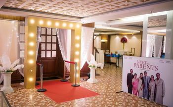 Photo of Hollywood themed sangeet decor