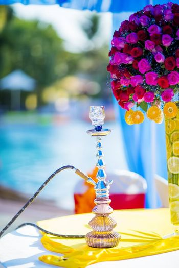 Sheesha served at poolside mehendi