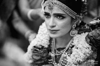 Photo of A south indian bride getting emotional during her wedding